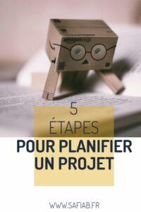 Pin 5 étapes pour planifier un projet