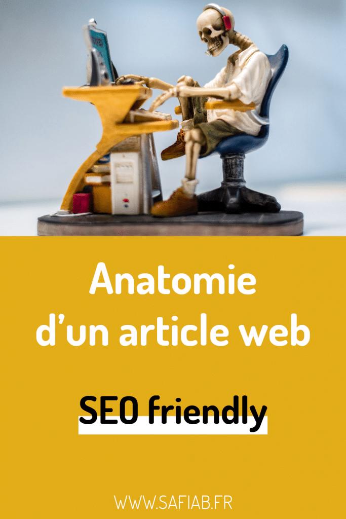 Pin Pinterest Ecrire un article SEO friendly